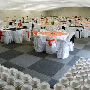 Orange and Black Banquet