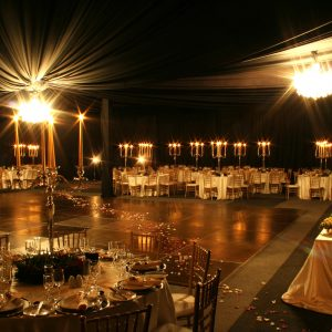 Black, Cream and Gold Wedding